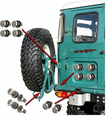 Tire - Spare - Tube Frame Rack  - SST Bolt Kit - Series 40 - 12ea.
