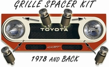 Grille Spacer & Screw Kit - FJ40/45 - 58-78 - 4ea - Aft Mrkt
