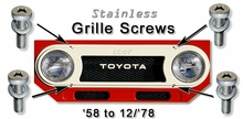 Grille Screw Kit - FJ40/45  - '58 to '78 - 4ea - Stainless