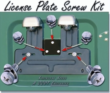 License Plate - Rear - Screw Kit - Stainless