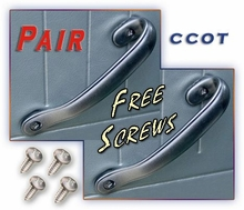 Door Pull Handles -  FJ40/45 - 75-84 - Pair -  Free Screws - 4 ea - Aft Mrkt