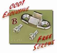 "Door Striker -  Rear Ambulance Dr - ""B"" - 1ea w/2 Free Screws - 75-84 - Aft Mrkt"
