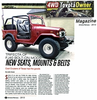 Article 4WD Toyota Owner Mag Pg #1 - Seat Conversion