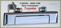 Door Handle - 1ea -  Chrome - R/Passngr/Right Side - 8/80-1/90 - TOYOTA