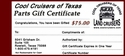 CCOT Gift Certificate - $75