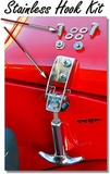 Hood Hook  - Stainless Side Hook Kit  w/SST Hrdwr.