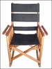 Costa Rica Rocking Chair - Low Back - Black Leather and Caobilla Wood