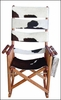 Costa Rica Rocking Chair - High Back - Cow Hide Leather and Caobilla Wood