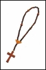 Virgin of the Angels Wood Rosary - 13""