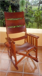 Costa Rica rocking chairs are manufactured in Caobilla wood and real ...
