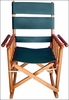 Costa Rica Rocking Chair - Low Back - Green Leather and Caobilla Wood