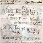 Da Vinci Collection Scrap.Words