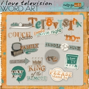 I Love Television Word Art