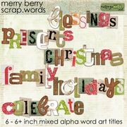 Merry Berry Scrap.Words