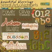 Bountiful Blessings Word Art/AlphaSets