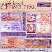 Simply Love 1 Sentiment Pak