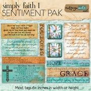Simply Faith 1 Sentiment Pak