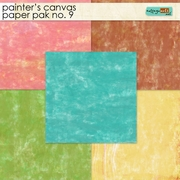 Painter's Canvas 9 Paper Pak