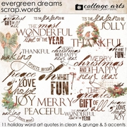 Evergreen Dreams Scrap.Words