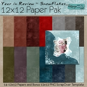 Year in Review - Snowflakes Paper Pak w/Bonus