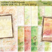 Nature's Sketchbook Papers 3 - Simply Spring
