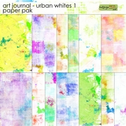 Art Journal - Urban Whites 1 Paper Pak