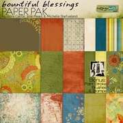 Bountiful Blessings Paper Pak w/Brushes