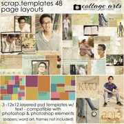 Scrap Templates 48 - Page Layouts