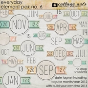 Everyday Element Pak 6 - Date Tags