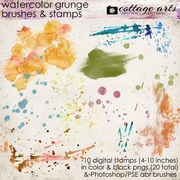 Watercolor Grunge Brushes & Stamps