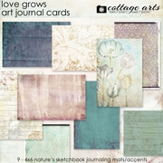 Love Grows Art Journal Cards