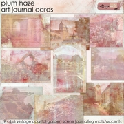 Plum Haze Art Journal Cards
