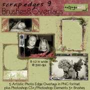 Scrap.Edges 9 Brushes & Overlays