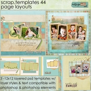 Scrap Templates 44 - Page Layouts