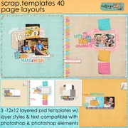 Scrap Templates 40 - Page Layouts