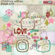 Christmas Wishes Page Pak