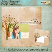Giving Thanks 12x12 ScrapOver Quick Page