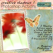 Creative Shadows 1 Photoshop Action Set