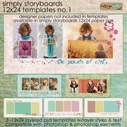 Simply Storyboards - 12x24 Templates 1