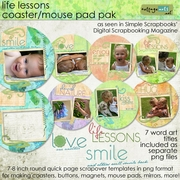 Life Lessons Coaster / Circle Album Pak