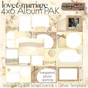 Love & Marriage 4x6 ScrapOver Album