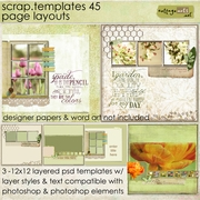Scrap Templates 45 - Page Layouts