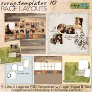 Scrap Templates 10 - Page Layouts