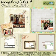 Scrap Templates 9 - Page Layouts