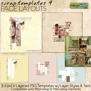 Scrap Templates 4 - Page Layouts
