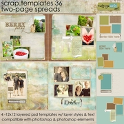 Scrap Templates 36 - Two-Page Spreads