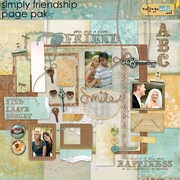 Simply Friendship Page Pak w/Alpha