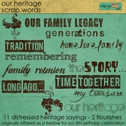 Our Heritage Scrap.Words