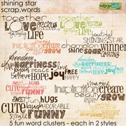 Shining Star Scrap.Words
