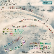 Take Flight Scrap.Words